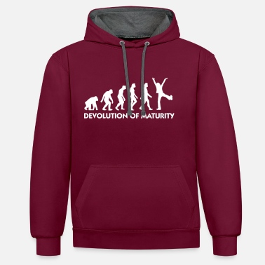 Mature The Evolution Of Maturity - Contrast Colour Hoodie