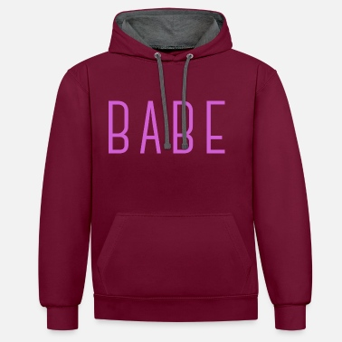 Babe BABE - Contrast hoodie
