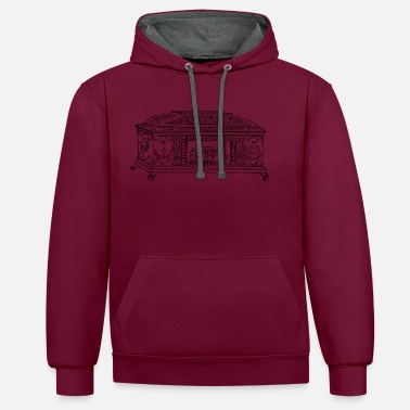 Chest chest - Contrast Colour Hoodie