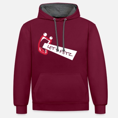Derp Derp Face Meme let's save design as a vector - Contrast Colour Hoodie