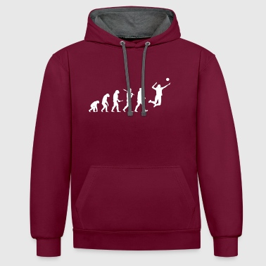 Evolution Volley-ball femme drôle de sport - Sweat-shirt contraste