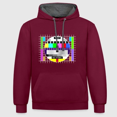 Big Bang Testbild Display screen test card signal Big Bang - Kontrast-Hoodie