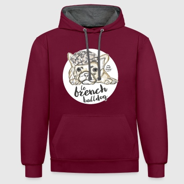 Bulldog French Bulldog - Contrast Colour Hoodie