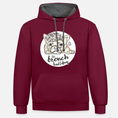 French French Bulldog - Contrast Colour Hoodie
