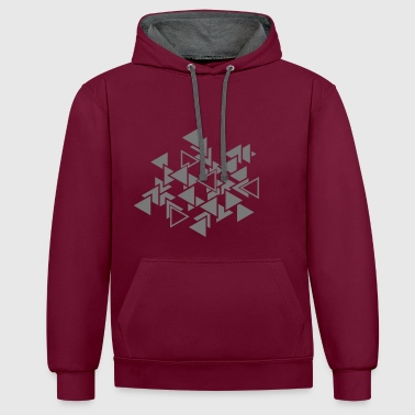 Graphic Triangles graphic pattern - Contrast Colour Hoodie