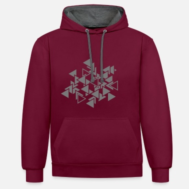 Art Graphique Triangles motif graphique - Sweat-shirt contraste