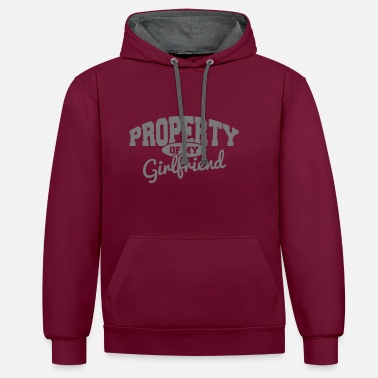 Saint Valentin PROPERTY OF MY GIRLFRIEND - Sweat-shirt contraste