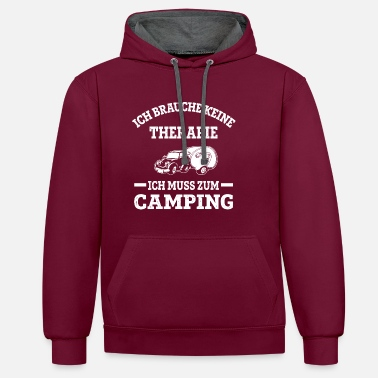 Camping Therapie? Nein, Camping! - Unisex Hoodie zweifarbig