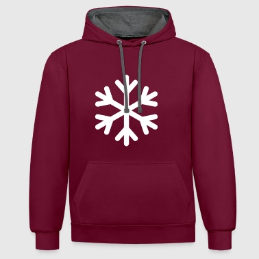 snowflake - Contrast Colour Hoodie