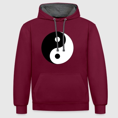Taoism Yin and Yang (colors customizable!) - Contrast Colour Hoodie