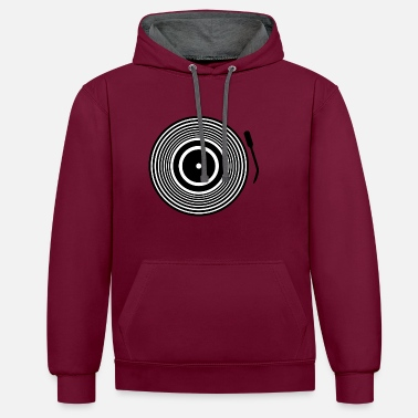 Record record - Contrast Colour Hoodie