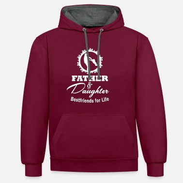 Father Father and daughter best friends - Contrast Colour Hoodie