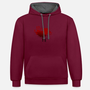 Bloodstains bloodstain - Contrast Colour Hoodie