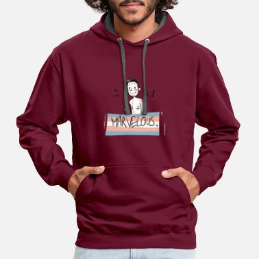 Transgender I am Marvelous (FtM) - Contrast Colour Hoodie