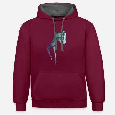 Northern Lights Mama Natur Northern Lights - Kontrast-Hoodie