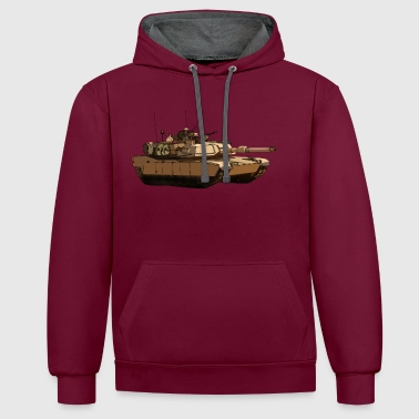 M1 Abrams - Sweat-shirt contraste