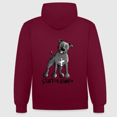 Staffordshire Bull terrier - Contrast Colour Hoodie