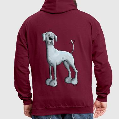 Happy Great Dane  - Contrast Colour Hoodie