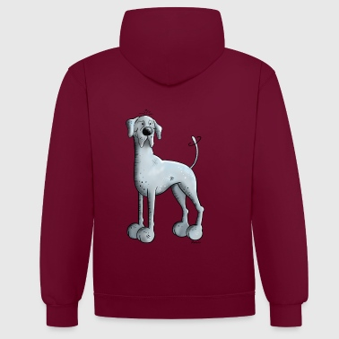 Great Dane Happy Great Dane  - Contrast Colour Hoodie