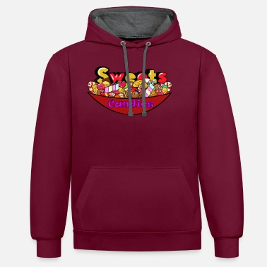 Candy Sweets Candies - Unisex Contrast Hoodie
