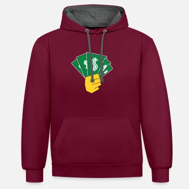 Money-grubbing Money - Unisex Contrast Hoodie