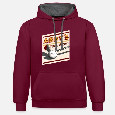 Us The Last Of Us - Abby's Pitch and Putt - Kontrast hoodie unisex