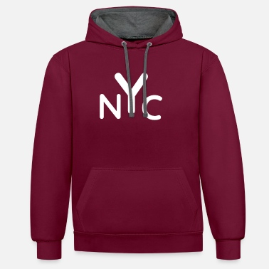 Nyc NYC - Unisex contrast hoodie