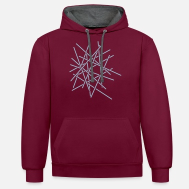 Fashion Sticks Chaos Design - Unisex Contrast Hoodie