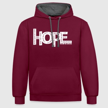 Faith - Hebrews 11-1 - 1 color vector - Contrast Colour Hoodie