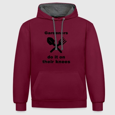 Gardeners Do It On Their Knees - Contrast Colour Hoodie