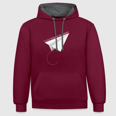AIRPORT NO THANKS - Stop airborne paper pilots - Contrast Colour Hoodie