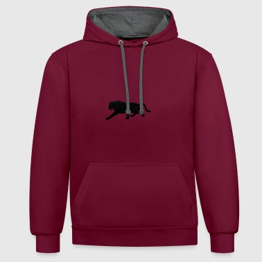 panthere noire - Sweat-shirt contraste