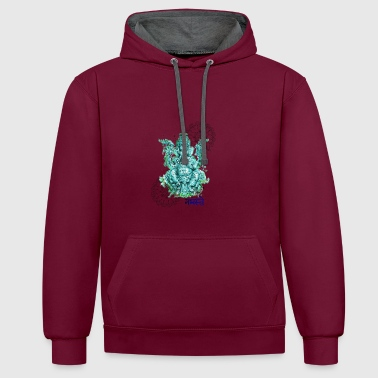 Ganesh for fortune - Contrast Colour Hoodie