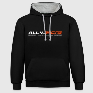all4x4racing 3-Farbig - Sweat-shirt contraste