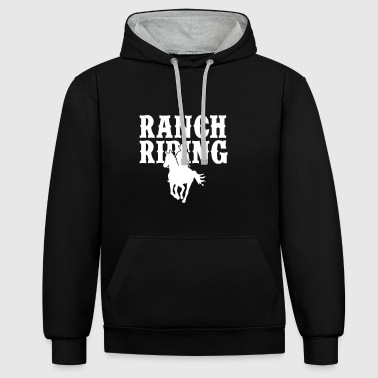 Ranch Riding Cowgirl - Kontrast-Hoodie