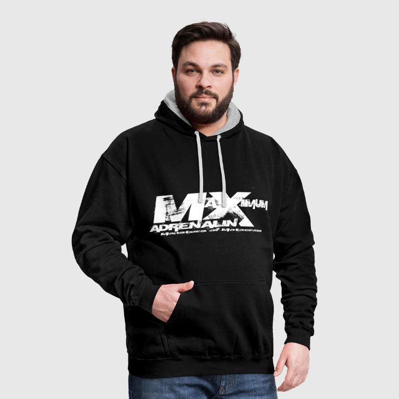 Maximum Adrenalin weiss - Kontrast-Hoodie