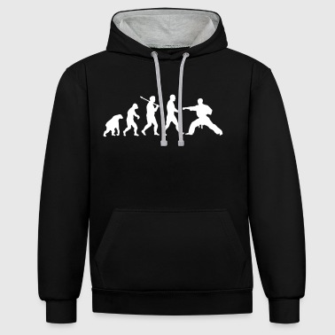Karate Evolution: Karate - Kontrast-Hoodie