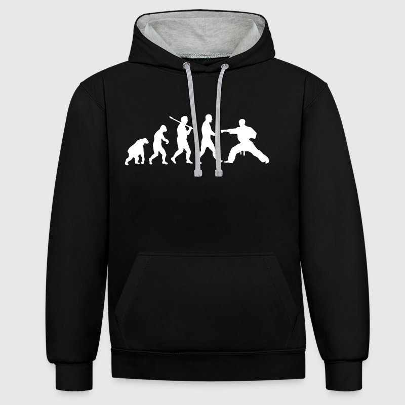 Evolution: Karate - Contrast Colour Hoodie