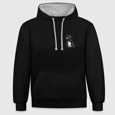 PICKLE The French Bulldog - Contrast Colour Hoodie