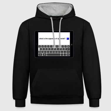 Search - Opposite - Contrast Colour Hoodie