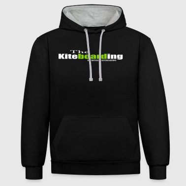 the kiteboarding - Contrast Colour Hoodie