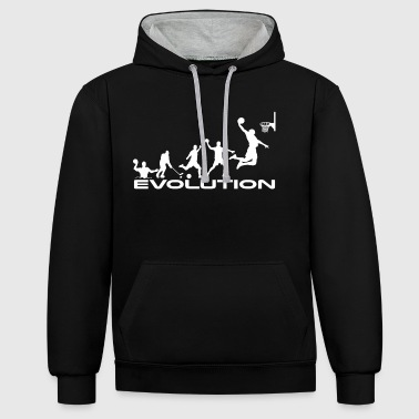 évolution de basket-ball - Sweat-shirt contraste