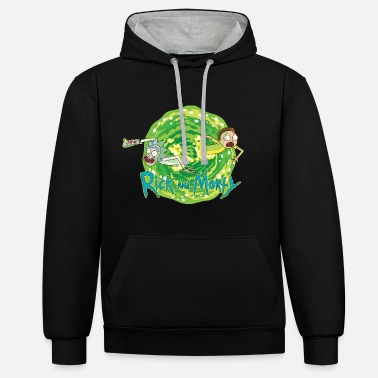 Rick Rick And Morty Multidimensional Travel - Unisex Contrast Hoodie