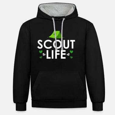 Boy Scouts Scout Life - Scout Life - Contrast Colour Hoodie