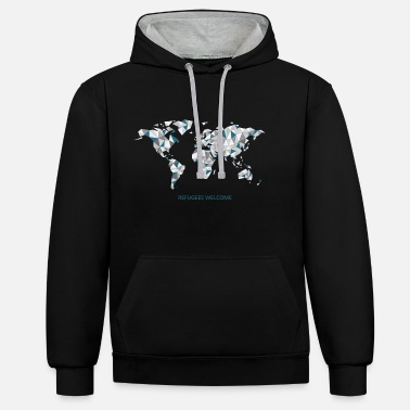 Illegal refugees_welcome - Kontrast-Hoodie