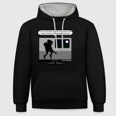 CCTV monitor - Thief-newspaper - Contrast Colour Hoodie