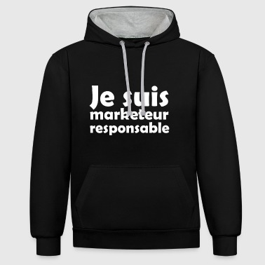 I am a responsible marketer - Contrast Colour Hoodie