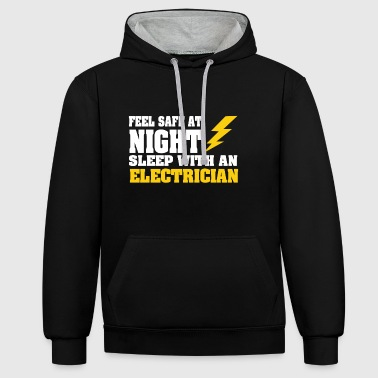 Sleep with an ELECTRICIAN - Contrast Colour Hoodie