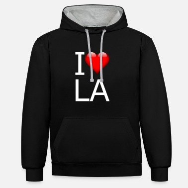 Hollywood Amo Los Angeles | LA idea de regalo - Sudadera con capucha en contraste