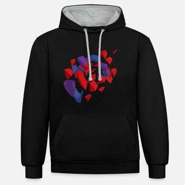 Vector &amp Red Purple and blue - Unisex Contrast Hoodie